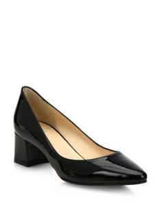 89e128ef747 AQUATALIA Phoebe Patent Leather Block Heel Pumps.  aquatalia  shoes  pumps