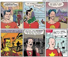75 years of comics evolution in 6 panels - matt madden [original illustration for the scene]