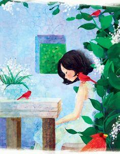 Korean Illustration by uzun hikaye