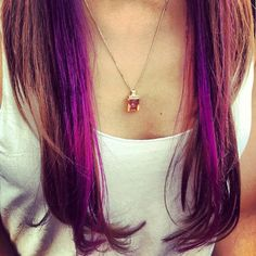 Warning: These 20 Purple Hairstyles Will Make You Want to Dye Your Hair via Brit + Co.