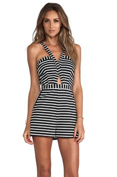 BEC&BRIDGE Elements Play Suit in Black Stripe from REVOLVEclothing