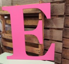 """Wooden Letter E Custom Capital Alphabet Letters 30""""  All Letters Available from this listing! Alphabet Wall hanging Decor  PBK STYLE by ASimplePlaceOnMain on Etsy"""