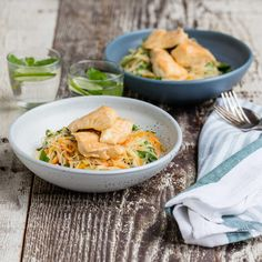 Nadia Lim: Thai Red Fish Curry with Vermicelli and Vegetable Stir-Fry. My food bag