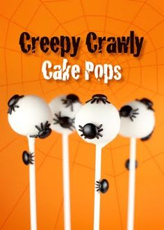 Halloween cake pops ... Tons of cute ideas here