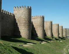 Walls of the City of Avila, Spain. Inside of the city  lived St. Teresa of Avila.