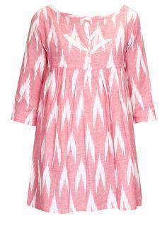 Pink kedia style ikat tunic by Rouka.       Shop now:  http://www.perniaspopupshop.com/designers/rouka   #shopnow #perniaspopupshop #rouka