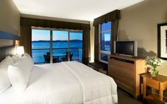 Accommodations — Parksville Hotels - The Beach Club Resort Beach Club Resort, Two Bedroom Suites, Hotel S, Vancouver Island, Hotels And Resorts, Hotel Offers, Guest Room, Master Bedroom, Front Desk