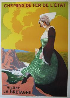 bretagne travel poster | Visitez La Bretagne by Stall - Vintage Travel Posters Gallery at I ...
