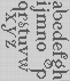 Darling Make Alphabet Friendship Bracelets Ideas. Wonderful Make Alphabet Friendship Bracelets Ideas. Crochet Alphabet, Crochet Letters, Embroidery Alphabet, Embroidery Fonts, Alphabet Charts, Alphabet Letters, Filet Crochet Charts, Knitting Charts, Cross Stitch Charts