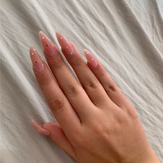 Simple Acrylic Nails, Almond Acrylic Nails, Best Acrylic Nails, Aycrlic Nails, Oval Nails, Nail Manicure, Fire Nails, Minimalist Nails, Dream Nails
