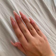 #маникюр #дизайнногтей #маникюрфренч Simple Acrylic Nails, Almond Acrylic Nails, Summer Acrylic Nails, Best Acrylic Nails, Almond Nails, Minimalist Nails, Aycrlic Nails, Nail Manicure, Fire Nails