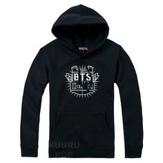 BTS Hoodie  Show your love for BTS with this cool hoodie that's a must-have for ARMYs everywhere! The hoodie has a high-quality print of the Bangtan Boys' logo and a cosy pocket on the front.