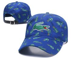 Men's / Women's Lacoste Full Croc Print Big Crocodile Embroidery Curved Dad Cap - Navy (Copy Ori) Adidas Baseball, Baseball Caps, Lacoste Store, Dad Caps, Nike Golf, Knit Beanie, Crocodile, Crocs, Knitted Hats