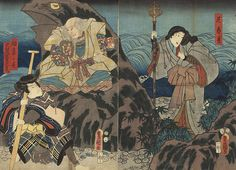 MAGICAL TOADS | look at that toad mountain from this print of the jiraiya lore i m ...
