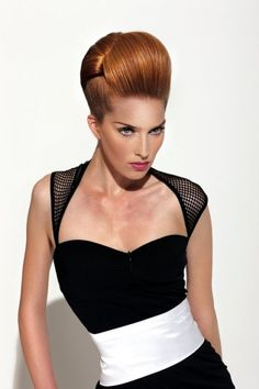 Elegant and classy layered updo hairstyle