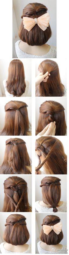 How to make hair look short Diy Hairstyles, Pretty Hairstyles, Japanese Hairstyles, Korean Hairstyles, Redhead Hairstyles, Bob Hairstyle, Medium Hair Styles, Curly Hair Styles, Great Hair