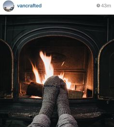 Warm your socks by the fireplace
