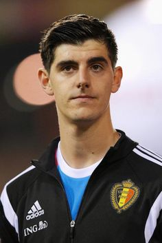 Thibaut Courtois prior a match between Belgium and Wales on November 16, 2014 in Brussels, Belgium....