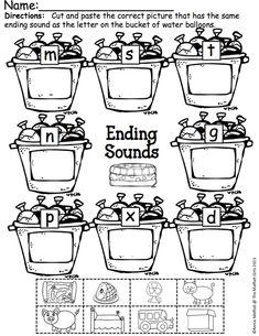 Ending Sounds (color, cut and paste)