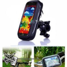 Soporte de Manillar Para Móvil GPS iPhone Moto 167.6x88x8mm Universal con Funda Color Gris -- 9,91€