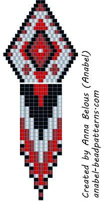 The scheme of earrings - mosaic weaving beads beadwork