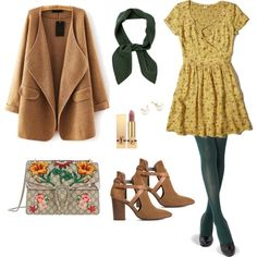 A fashion look from March 2017 by cozywow-socks featuring Hollister Co., H London, Gucci, Majorica, Chloé and Yves Saint Laurent