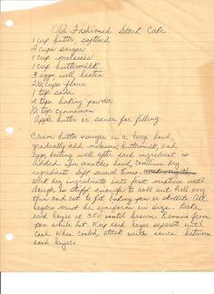 Heirloom recipe for Appalachian Molasses Stack Cake