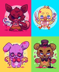 Five Nights At Freddy's by witchpaws (video game art) <--- This is surprisingly adorable...