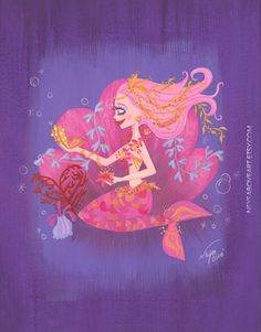 Mermaid Beauty by Neysa Bové Original by NeysaBoveArt on Etsy https://www.etsy.com/listing/292793315/mermaid-beauty-by-neysa-bove-original