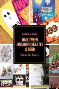 Halloween Time!  Hier zeige ich Euch, wie Ihr schnell und einfach tolle Einladungskarten und eine coole Deko für eine Helloweenparty machen könnt.