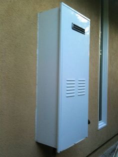 - Exterior hot water heater enclosure ...