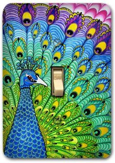 Colorful Peacock Metal Light Switch Plate Cover Kitchen Bath Bedroom Home Decor 532 Trendyhomedeco,http://www.amazon.com/dp/B007W7U0RM/ref=cm_sw_r_pi_dp_6WiQsb1MQ80V21QJ