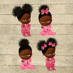 African American Sassy Boss Baby Girl Babies of Color Set Boss Birthday, 1st Birthday Parties, Birthday Hats, Birthday Ideas, Baby Girl Shower Themes, Baby Theme, Baby Afro, Sims Baby, Baby Shower Prizes