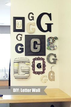 DIY: Letter Wall from Ruffles and Such blog