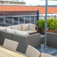 Verticaal veranda windscherm - Terras windscherm Outdoor Sectional, Sectional Sofa, Outdoor Furniture Sets, Outdoor Decor, Home Decor, Gardens, Patio Shade, Balcony, Lawn And Garden