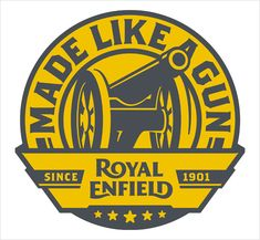 Enfield of India subsequently bought the rights to use the Royal Enfield name in 1995. Description from logo-designer.co. I searched for this on bing.com/images
