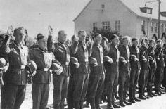 Norwegian volunteers being sworn in to the Waffen-SS.