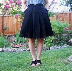 Mirambel skirt close up on me