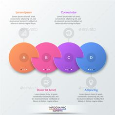 Buy Paper Infographic Circles Template by Andrew_Kras on GraphicRiver. Four multicolored round elements with slits placed into horizontal row and connected with text boxes. Infographic Creator, Circle Infographic, Infographic Resume, Infographic Templates, Diagram Chart, Circle Template, Timeline Design, Text Layout, Photoshop Design