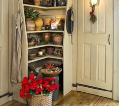 Buttery...love this look!  Would love to change my pantry to this.