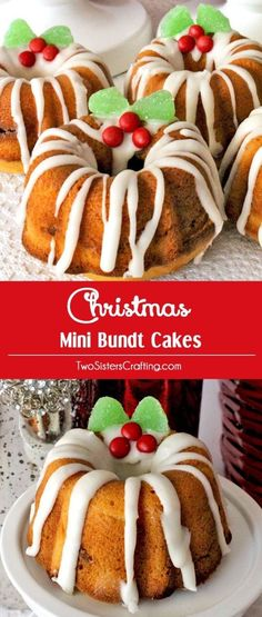 Christmas Mini Bundt Cakes - a yummy Christmas Dessert made of deliciously moist., Holiday Tips, Christmas Mini Bundt Cakes - a yummy Christmas Dessert made of deliciously moist bundt cake and a nutty cinnamon filling. This is definitely the best . Fun Holiday Desserts, Mini Desserts, Holiday Recipes, Dessert Recipes, Mini Bunt Cake Recipes, Summer Desserts, Finger Desserts, Best Christmas Desserts, German Desserts