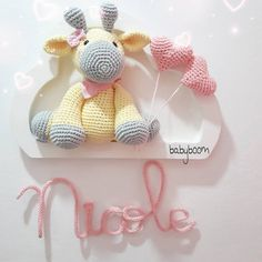 Crochet Animal Patterns, Amigurumi Patterns, Crochet Animals, Baby Patterns, Crochet Toys, Crochet Baby, Crochet Wall Art, Expecting Mom Gifts, Crochet Mobile