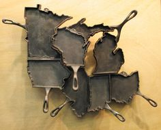 who doesn't need a cast iron skillet in the shape of their favorite state?