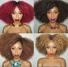 1 2 3 4 which one is your favourite one? #healthyhair #gorgeous #blackgirlsarelit #hairgoals #blackgirlsrock #blackgirlmagic  #naturalista #naturalbeauty #afro #kinkyhair #kinky #curlyhair #ombre #beautiful #dope #pin #instagram #hair #style Coco Black Hair provide the most natural looking hair and wigs Change yourself today!