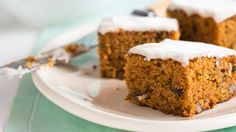 A delicious way use summer's bounty of zucchini! Moist spiced zucchini cake topped with sweet cinnamon cream cheese frosting.