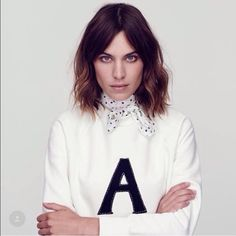 ⭐️HP⭐️Ag by Alexa Chung Between her and Olivia Palermo with their collabs I'm going to broke. Ivory. This is the best simple sweater shirt. NWT this is obviously limited addition.        NO TRADES YES OFFERS Pick a price you feel comfortable with  & we can negotiate from there AG Adriano Goldschmied Sweaters Crew & Scoop Necks