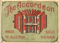 Matchbook cover, the accordion, Austria