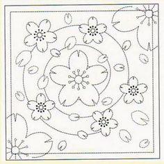 Japanese Embroidery Designs Sakura for sashiko emb. Sashiko Embroidery, Learn Embroidery, Japanese Embroidery, Hand Embroidery Patterns, Embroidery Thread, Embroidery Designs, Embroidery Sampler, Sgraffito, Boro