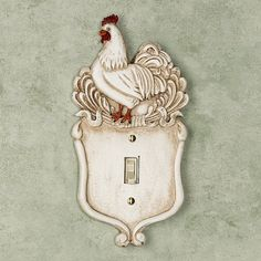 Le Chanticleer Single Switch Handpainted Ivory