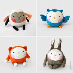 Коллекция мягких игрушек для компании Dream Makers, выпускается под торговой маркой Fancy